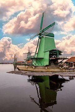 """Mühle in """"de Zaanse Schans"""", Niederlanden von Gert Hilbink"""