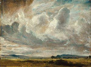 Studie der Wolken über einer Landschaft
