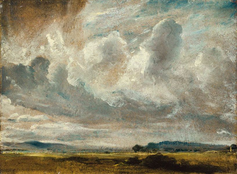 Studie der Wolken über einer Landschaft von Antonije Lazovic