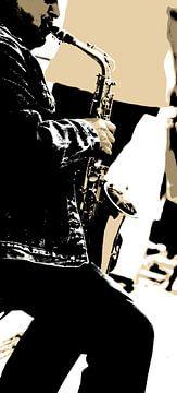 saxofoonspeler van Kirsten Warner