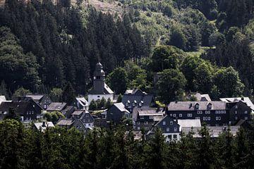 Een historisch dorp in Sauerland