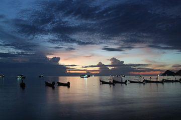 Thailand Kho Tao Sonnenuntergang von Ruud Wijnands