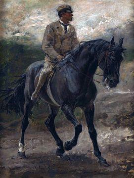 Das Pferd von Graf Bobrinski, Francisco Pradilla Ortiz, - 1880 von Atelier Liesjes