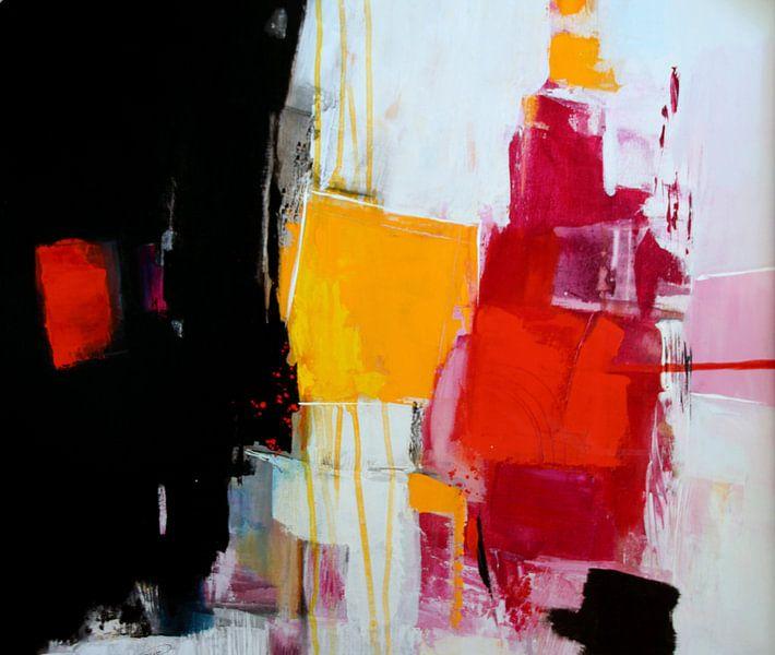 Abstrakt Nr. 25 in Schwarz-Weiß-Rot von Claudia Neubauer