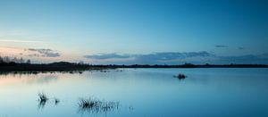 Avondlicht tijdens blauwe uurtje (long exposure) - Haaksbergerveen   van