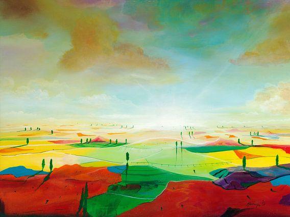 Farbfelder van Silvian Sternhagel