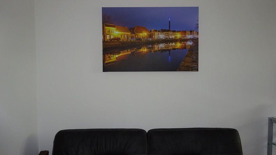Klantfoto: De Kaai - Bergen op Zoom van Stefan Fokkens, op canvas