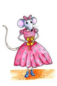 Jong muisje klaar voor het grote feest