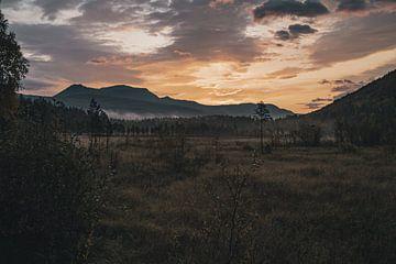 Noorse zonsopkomst van Colin van Wijk