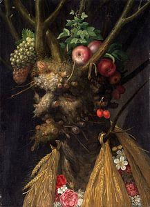 Giuseppe Arcimboldo, Vier seizoenen in één portret