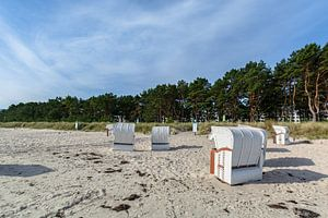 Herbe des dunes sur la plage de la mer Baltique à Prora près de Binz, Rügen sur GH Foto & Artdesign