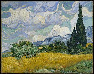 Tarweveld met Cypressen, Vincent van Gogh