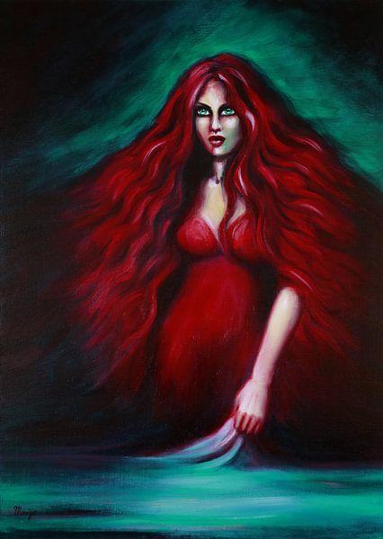 Rode Dame van Marije du Bateau