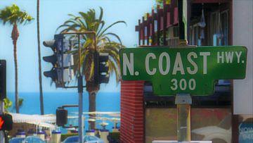 Laguna Beach Street Sign van