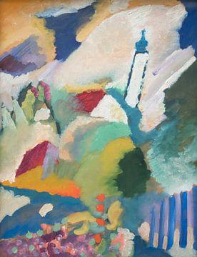 Murnau avec l'église, Wassily Kandinsky sur