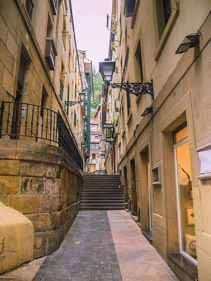 Straße in Irun, Spanien