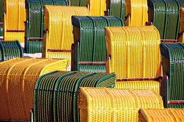Strandkörbe grün und gelb van Rosi Lorz