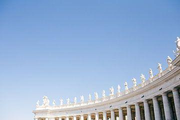 Sint-Pietersplein, Vaticaanstad, Italië van Laura de Roeck