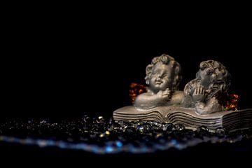 Concept Kerstmis : 2 engelen van Michael Nägele
