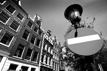 Façade d'Amsterdam (noir et blanc) sur Rob Blok