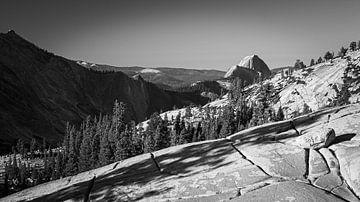 Yosemite National Park in Schwarz und Weiß