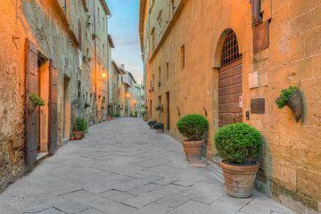 Pienza in Toscane van Michael Valjak
