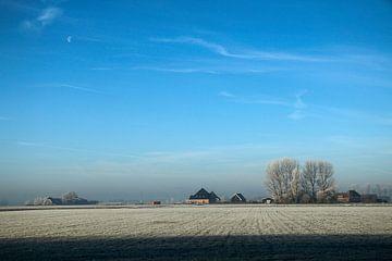 Holländische Landschaft im Winter von Cora Unk