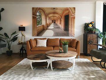Photo de nos clients: Zarte und warme Farben - Verlassene Villa in Italien sur Roman Robroek