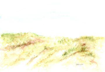 Hvide Sande - Blick auf die Dünen von Sandra Steinke