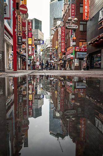 Tokyo weerspiegeld