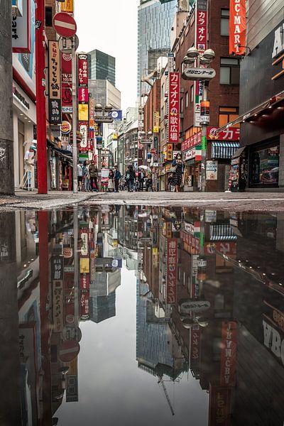 Tokyo weerspiegeld van Jelmer Laernoes