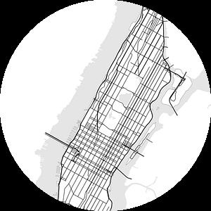 Manhattan, New York van Drawn by Johan