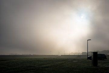 AZC in mist von Peter Bouwknegt