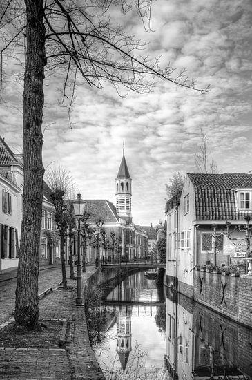 Elleboogkerk en Langegracht historisch Amersfoort van Watze D. de Haan