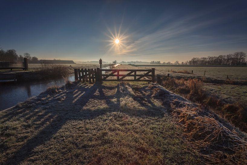 Winter Morning Sunrise van Wil de Boer