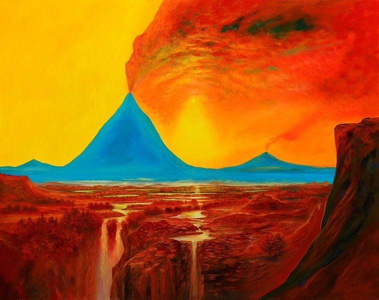 Blauer-Vulkan sur Art Demo