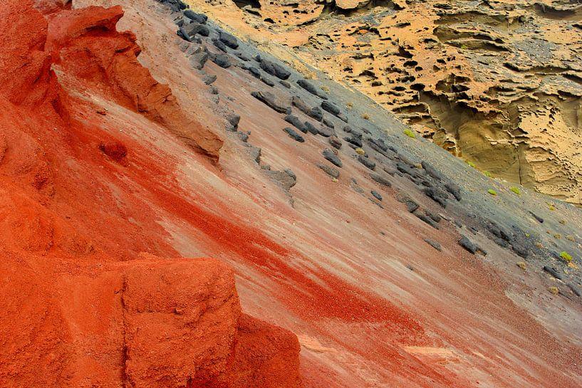 Vulkaanlandschap Lanzarote van Inge Hogenbijl