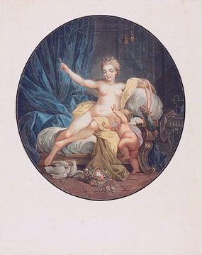Venus (nackt) entwaffnet die Liebe, Jean-François Janinet von Atelier Liesjes