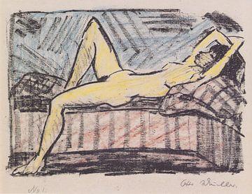 Liegende auf der Couch, Otto Mueller - 1919