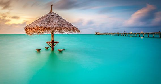 Sunset Malediven van Markus Busch