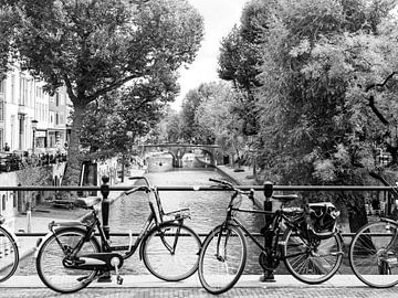 Fahrrad entlang des Kanals in Utrecht, Niederlande von Evelien Oerlemans