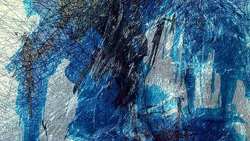 Experiment in zwart, wit en blauw van Anita Snik-Broeken