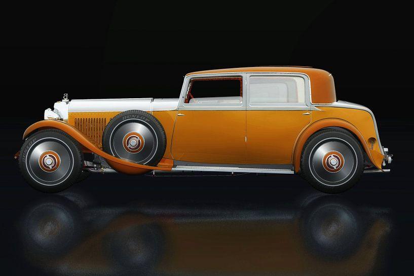 Bentley 8 liter zijaanzicht van Jan Keteleer