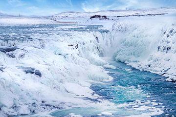 ISLAND Gullfoss im Winter von Melanie Viola