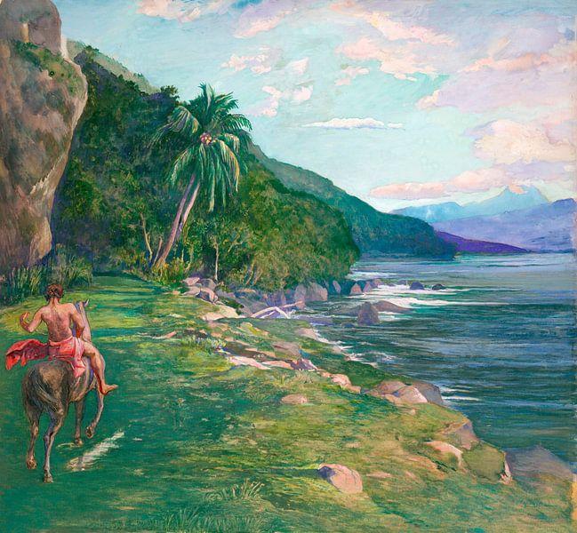 Ein Zaumpfad in Tahiti, John LaFarge von Meesterlijcke Meesters