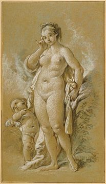 François Boucher. Naakt, 1755 van