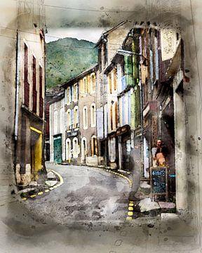 kleurrijke dorpstraat van claes touber