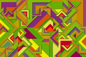 Abstrakte Arbeit mit Dreiecken 'Herbst'.