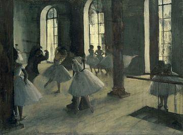 Repetitie in de Dansfoyer, Edgar Degas van Meesterlijcke Meesters