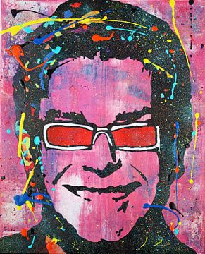 "Elton John ""Colors"" van Kathleen Artist Fine Art"